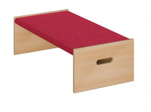 Podest mit Tretford-Teppich - Rechteck klein 1-seitig offen