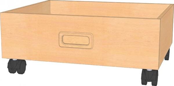 Rollkasten für Möbel mit hoher Sockelniesche