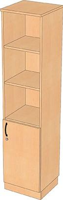 1-türiger Kombinationsschrank mit offenen Regalfächern