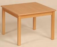 Quadrat-Holztisch