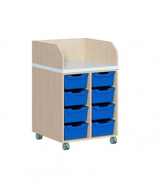 Fahrbare Wickelkommode mit 8 ErgoTray Boxen