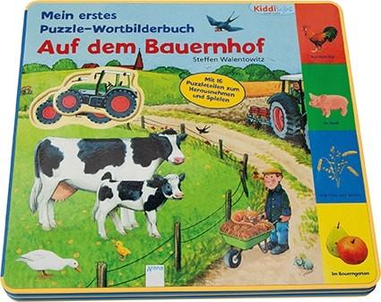Puzzle-Wortbilderbuch - Auf dem Bauernhof