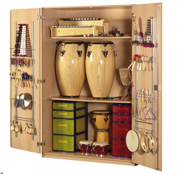 Musikinstrumentenschrank mit 2 Modulboxen und 2 Einlegeböden