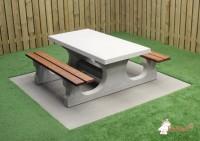 Beton Picknickset Deluxe, Bank-Tisch Kombination