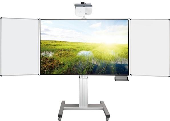 Fahrbares Whiteboard für stiftbedienbare Projektoren, elektr. höhenverstellbar