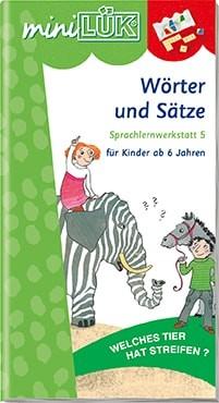 """miniLük Übungsheft """"Wörter und Sätze – Sprachlernwerkstatt 5"""""""