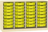 Raumteiler mit Ergo Tray Boxen, verschiedene Größen