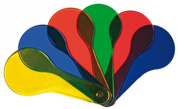 6er Set Farbfächer, verschiedene Farben