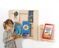 Bücherregal mit Plexiglasaufkantung, mit 1 oder 2 Auflagen