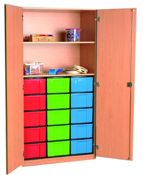 Materialschrank mit InBoxen und 1 Einlegeboden