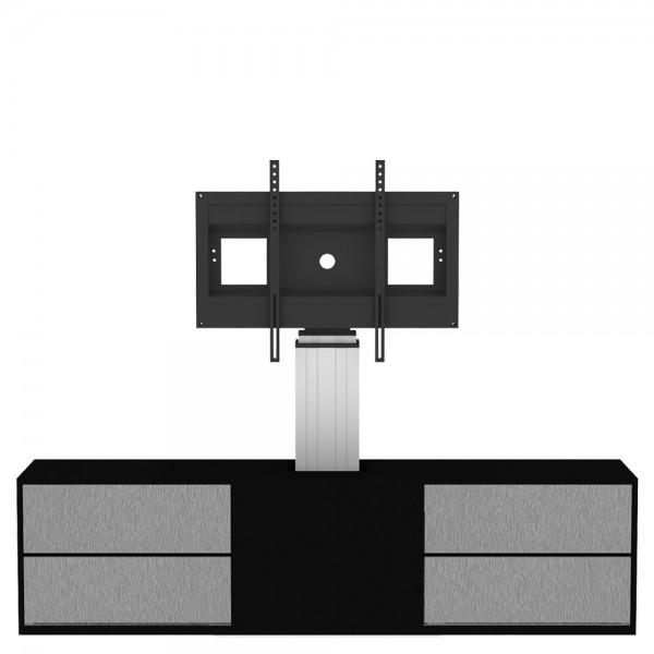 Displayhalterung mit Unterschrank, elektrisch höhenverstellbar