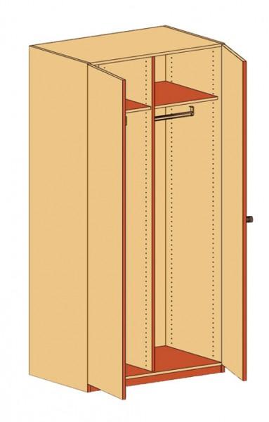 Garderobenschrank Doppeltür & Mittelwand