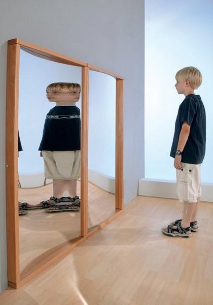 Zerrspiegel, verschiedene Ansichten