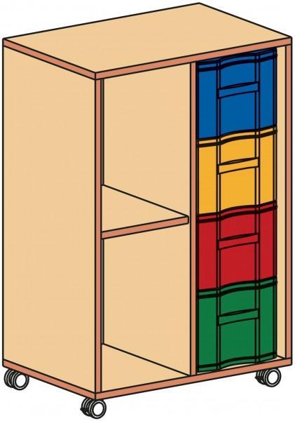 Fahrbarer Materialcontainer, 2-reihig