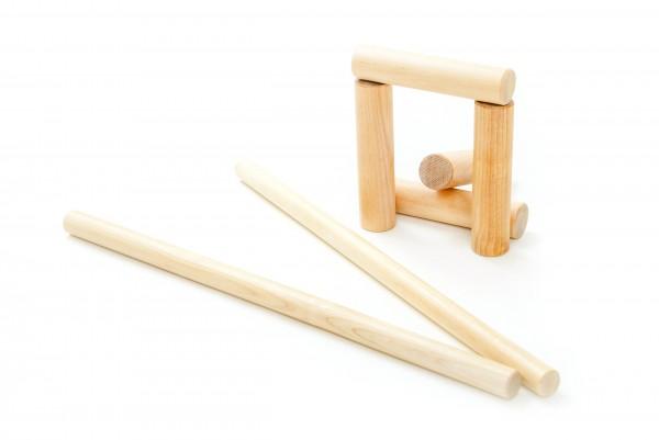 Zubehör Gorodki aus Holz