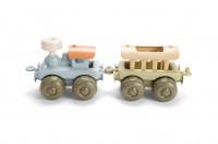 BIO PLAST Zug Set - Lok mit Anhänger für Kinder