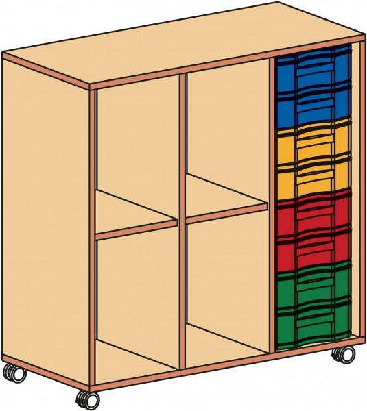 Fahrbarer Materialcontainer, 3-reihig