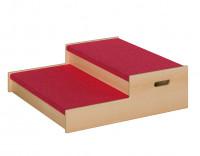 Podest mit Tretford-Teppich - Stufenpodest 2 Varianten
