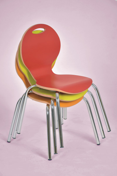 Stuhl IRON, natur oder farbig