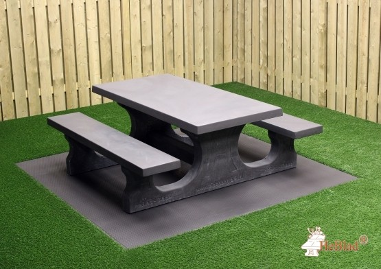 Beton Picknickset Standard, Bank-Tisch Kombination
