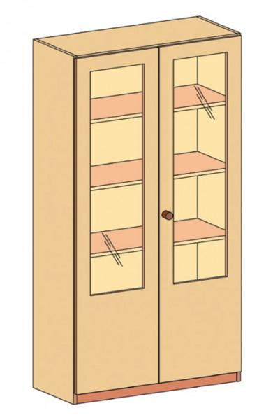 Schrank mit Doppeltür und 2/3 Glassauschnitt