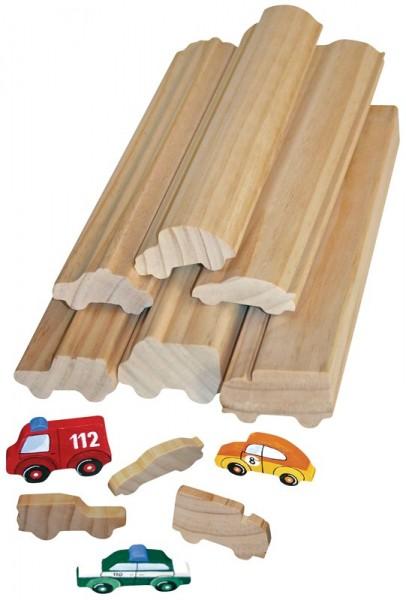 Profilholz in verschiedenen Motiven
