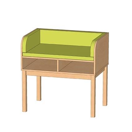 Wickeltisch mit 2 Ablageflächen