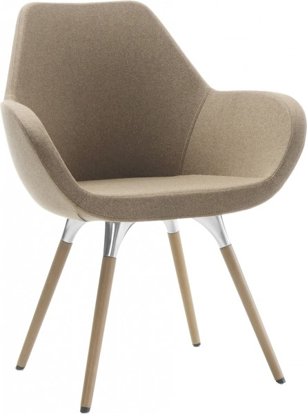 Stuhl Nele mit Holzgestell