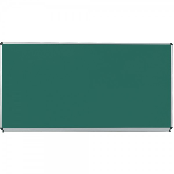 Langwandtafel, grün, mit Ablage