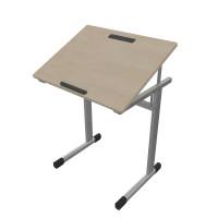 Schülertisch, schrägstellbar mit fester Höhe