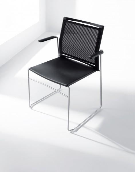Stuhl Diane - Kunststoff / Netzstoff