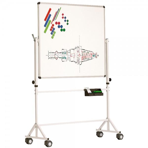 Fahrbare Stahltafel, in weiß, verschiedene Größen