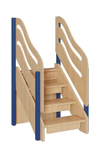 """Treppe für kleine Spielburgen Größe """"S"""" unten geschlossen"""