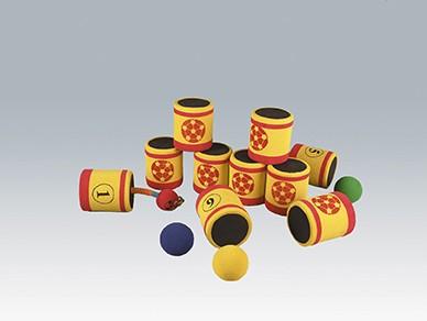 Soft-Dosen-Wurfspiel, rot/gelb