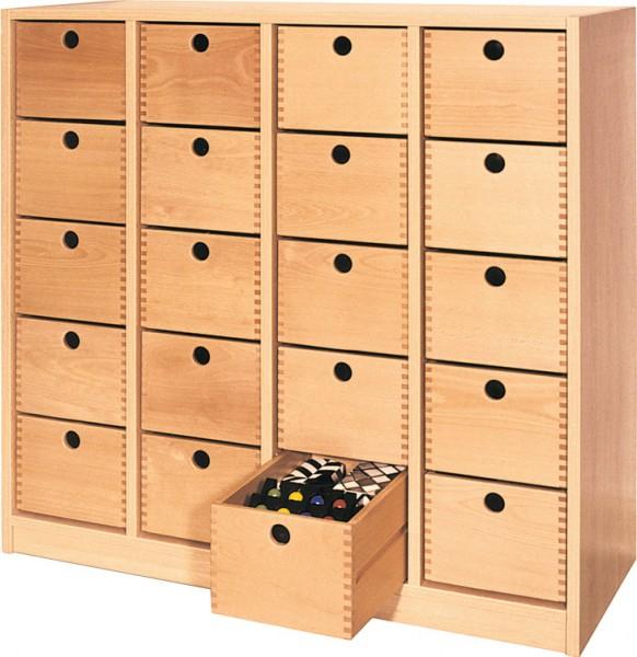 Sideboard mit 20 oder 28 Holzschüben