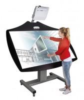 Cloudboard fahrbares, elektrisch höhenverstellbares & schrägstellbares System (ohne Projektor)