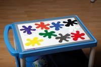 Farbfächer-Set in Klecksform