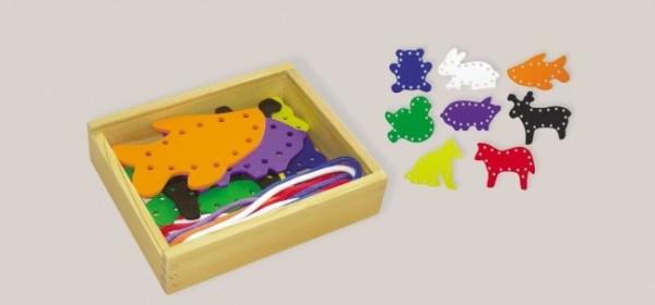 Sticktiere mit Holzbox