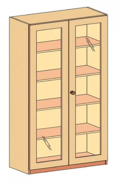 Schrank mit Doppeltür und 3/3 Glasausschnitt