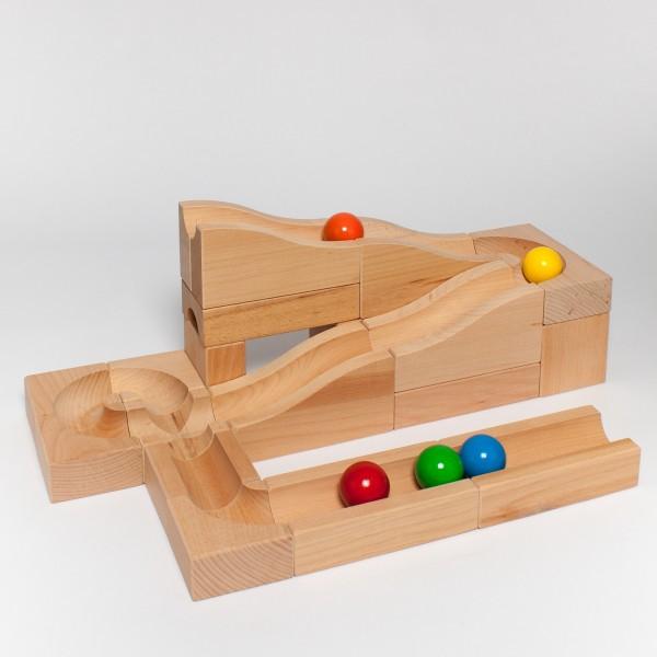 """Holzkugelbahn """"Wellen"""" Größe M"""