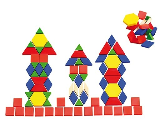 Pattern Blocks - Geometrie Legeformen Puzzle