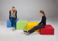 """Hocker """"cube XL"""" - Kunstleder"""