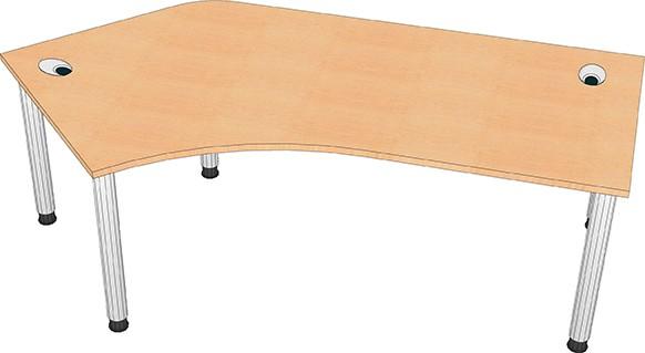 Schreibtisch mit Freiformplatte