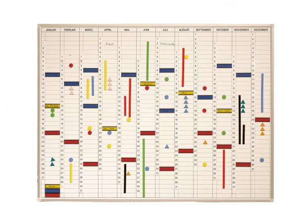 Jahreskalender inkl. Zubehör 120 x 90 cm