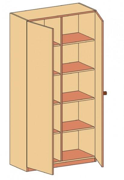 Schrank mit Doppeltür und Mittelwand