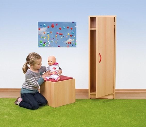 Puppen-Kleiderschrank, H: 110 cm