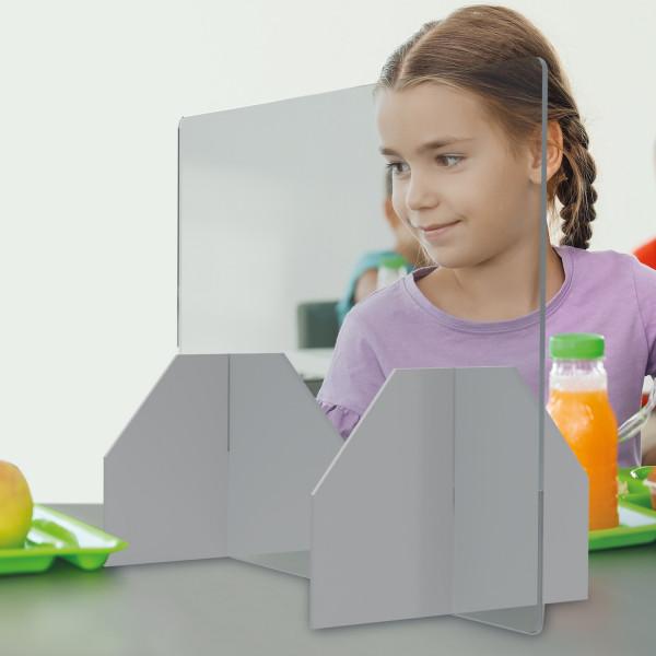 Tischtrennwand Stecksystem mit Acrylglas - Sparset / 5 Stk.