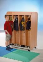 Mobiler Garderobenwagen mit 8 Fächern