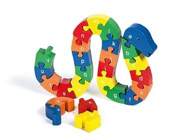 ABC-Holz-Puzzle