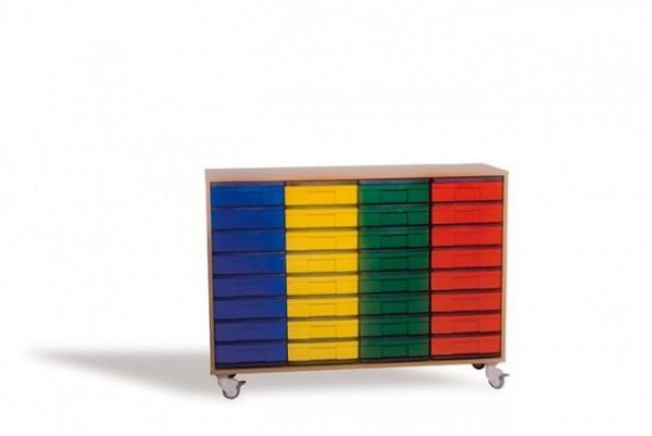 Fahrbares InBox Regal mit 32 Boxen